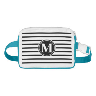 Thin Strips Pattern and Monogram Fanny Pack
