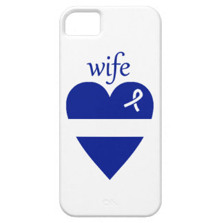 Thin White Line EMT Wife Heart iPhone 5 Case