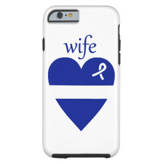 Thin White Line EMT Wife Heart iPhone 6 Case