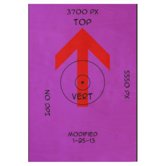 thin wood poster - vert template
