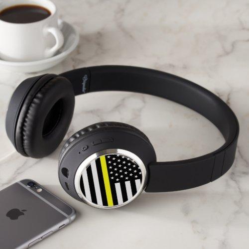 Thin Yellow Line Dispatcher Flag Headphones