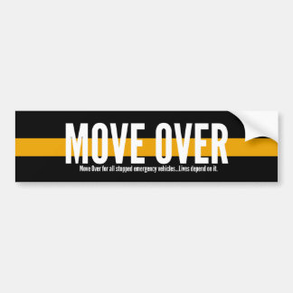 Thin Yellow Line Move Over Bumper Sticker
