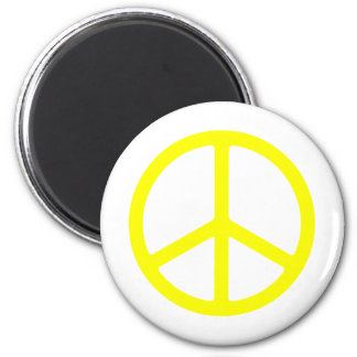 Thin Yellow Peace Sign Magnet