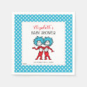 Thing 1 Thing 2 | Twins Baby Shower Napkin