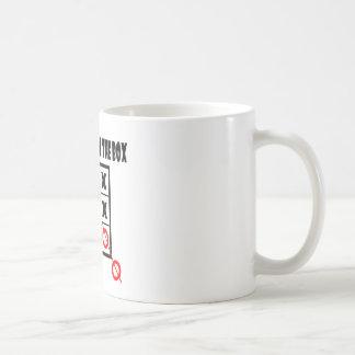 Thing outside the box coffee mug