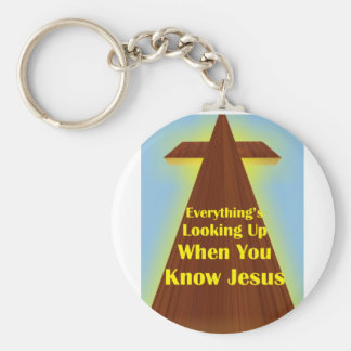 Things are Looking Up! Keychain