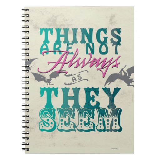 Things Are Not Always as They Seem Spiral Notebook