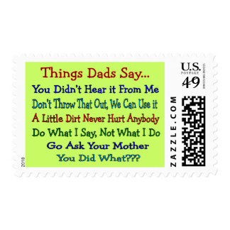 Things Dads Say--Father's Day Gifts Stamp