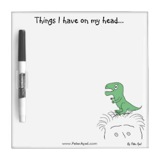 Things I Have On My Head: Dinosaur Dry Erase Board