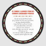 Things I Learned From My German Longhaired Pointer Stickers