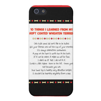 Things I Learned From Soft Coated Wheaten Terrier Cover For iPhone 5