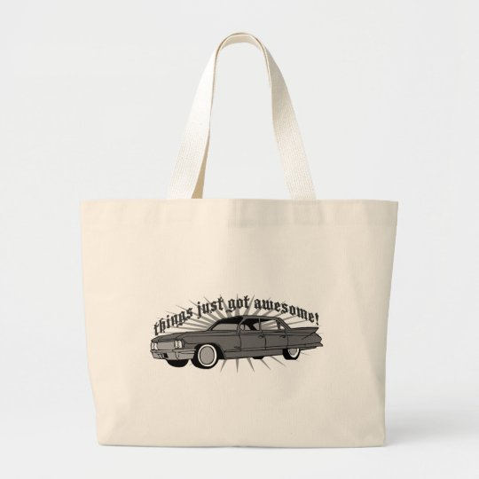 Things just got Awesome! Large Tote Bag