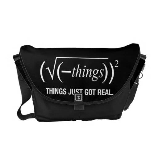 things just got real courier bags