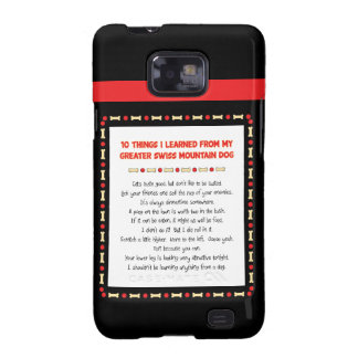 Things Learned From My Greater Swiss Mountain Dog Samsung Galaxy S Cover