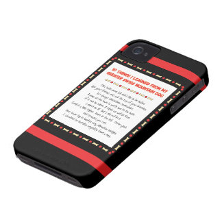 Things Learned From My Greater Swiss Mountain Dog iPhone 4 Case