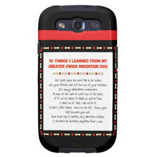 Things Learned From My Greater Swiss Mountain Dog Samsung Galaxy SIII Cover