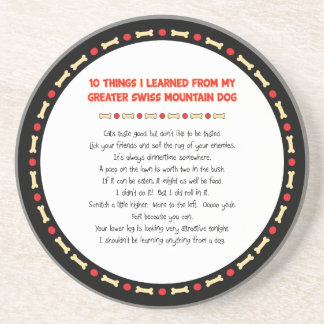 Things Learned From My Greater Swiss Mountain Dog Coasters