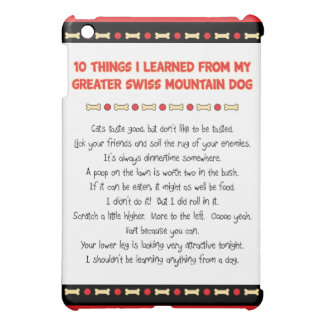 Things Learned From My Greater Swiss Mountain Dog iPad Mini Cover