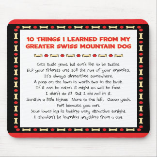 Things Learned From My Greater Swiss Mountain Dog Mouse Pads