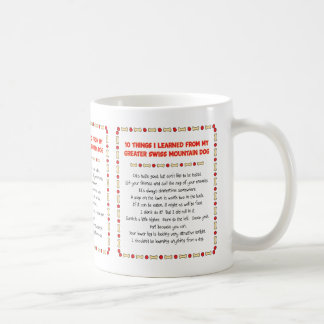 Things Learned From My Greater Swiss Mountain Dog Mug