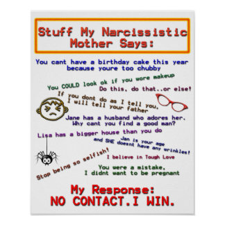 Things My Narcissistic Mom Says Poster