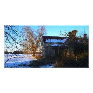 Things Past -- North Carolina Snow Scene Photo Greeting Card
