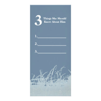 Things She Should Know about him Wedding Game Card