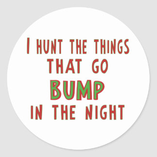 Things That Go Bump In the Night Round Stickers
