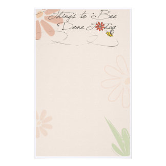 "things to ""bee"" done stationery"