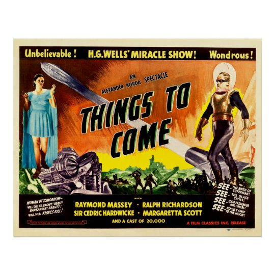 Things To Come Vintage 1936 Movie Poster Zazzle Com