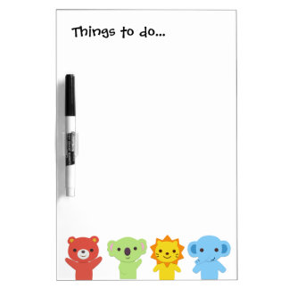 Things To Do Animal Friends Dry Erase Board
