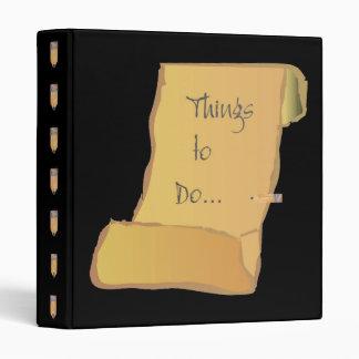 """Things to do"" binder"