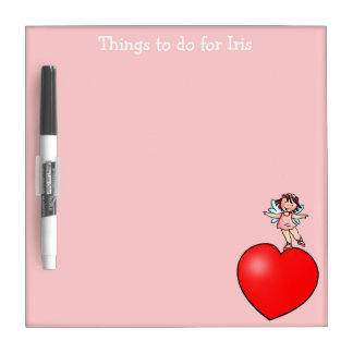 Things to do Board -  Little Dancer on Red Heart Dry-Erase Boards