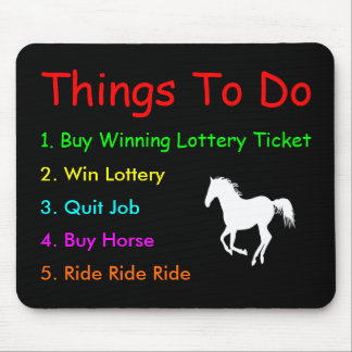 Things to Do List for the Equestrian Rider Mouse Pad