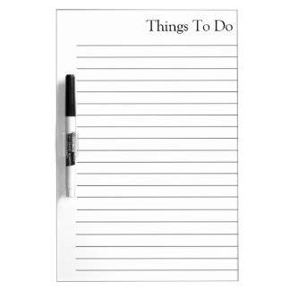 Things To Do List Gray Notes Dry-Erase Board