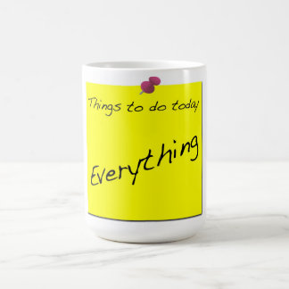 Things To Do Today Admin Mug