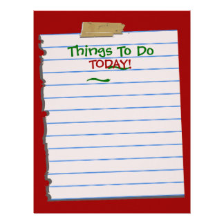 Things To Do TODAY! Christmas Stationery
