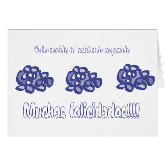 Things with blue flowers to give card