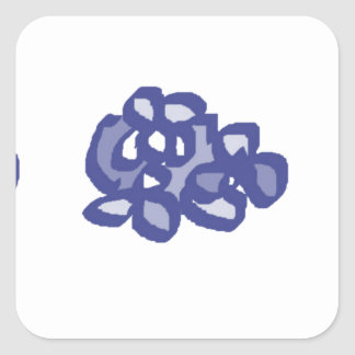 things with blue flowers to give square sticker