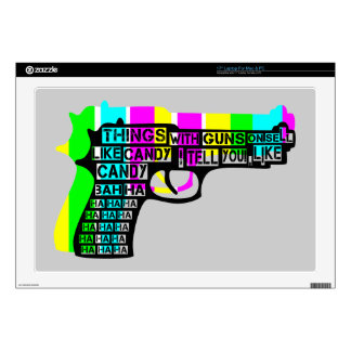 "Things With Guns On Decals For 17"" Laptops"