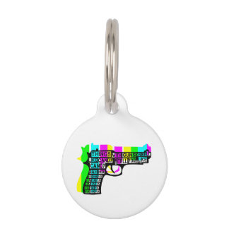 Things With Guns On Pet Name Tag
