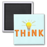 Think 2 Inch Square Magnet