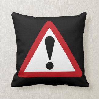 Think (2) Warning Sign, UK Throw Pillow