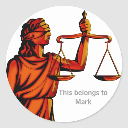 Think About Justice - Law sticker