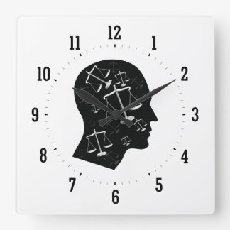 Think About Justice Wall Clock