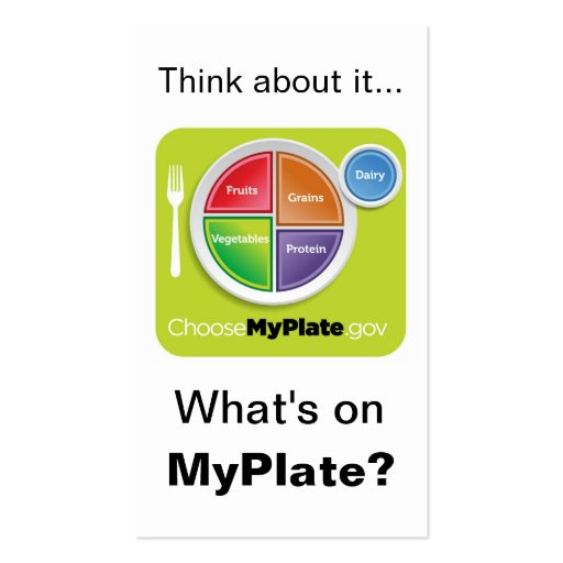 Choose my plate template myplate plates nutrition education store nutritionist business cards page5 bizcardstudio pronofoot35fo Image collections