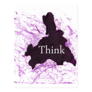 Think Abstract Postcard