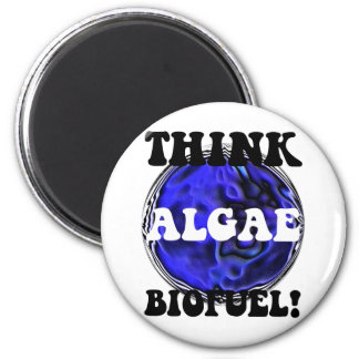 Think algae biofuel 2 inch round magnet