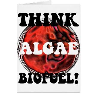 Think algae biofuel card
