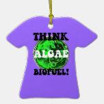 think algae biofuel christmas ornament